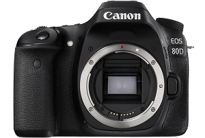 Canon 80D digital camera with lens
