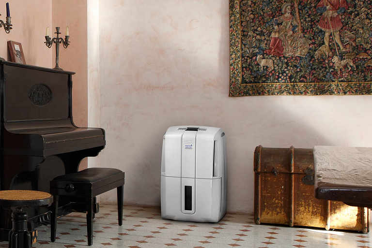 The DeLonghi AriaDry in a stylish living room