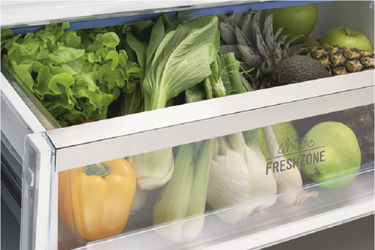 The Electrolux fridge's FreshZone crisper