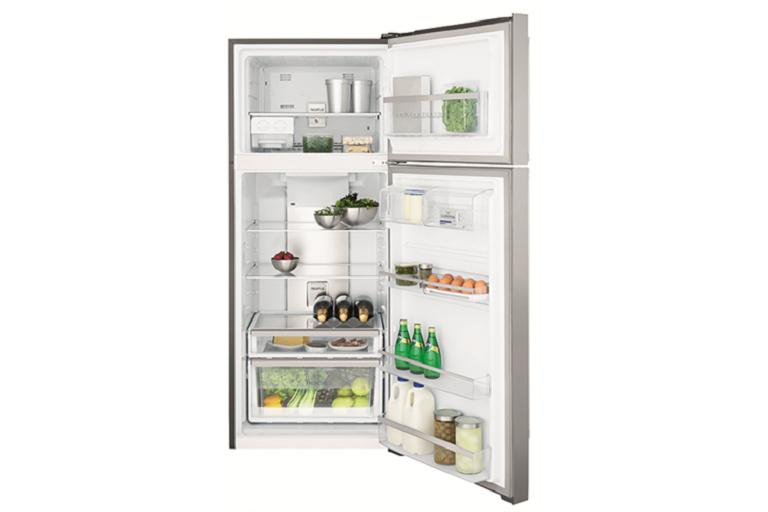 The Electrolux fridge with door open