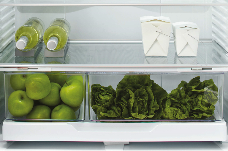 The 519L fridge's shelves