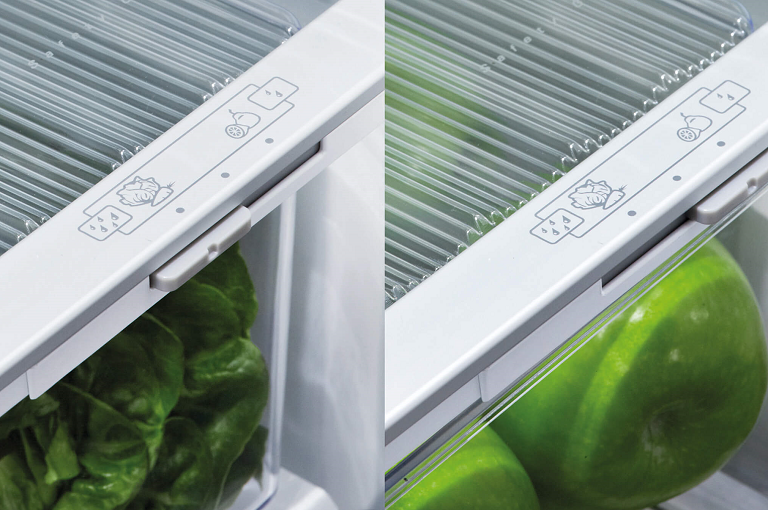The Fisher & Paykel humidity control crisper