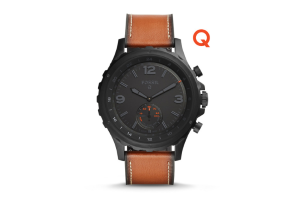 13f1491483170 Buy Fossil Q Nate Dark Brown Leather Connected Watch