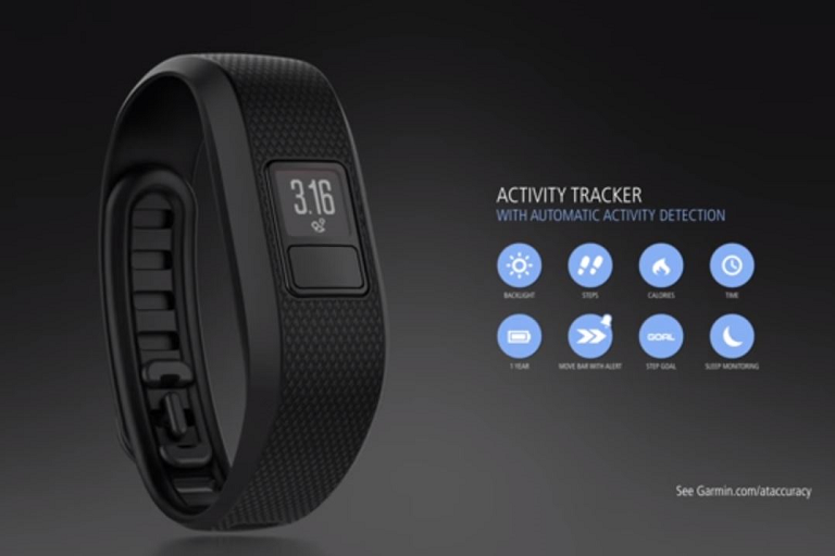 The Garmin Vivofit tracks your activity, calories, sleep and more