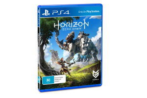 Horizon Zero Dawn PS4 box shot.
