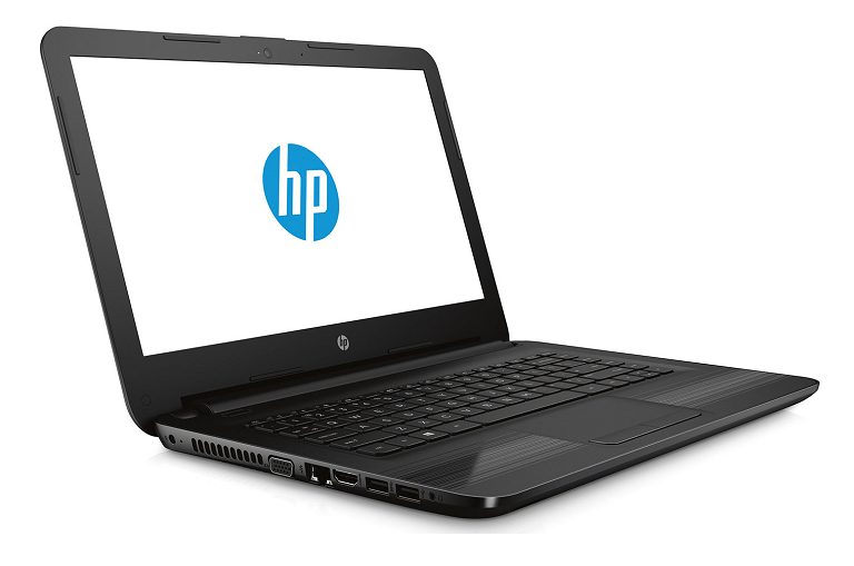 Angled shot of the HP 14-AN006AU laptop