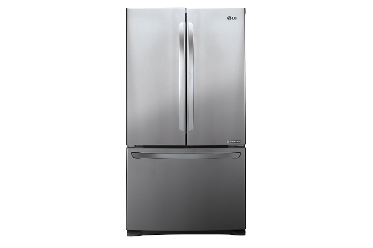 Front view of the LG fridge