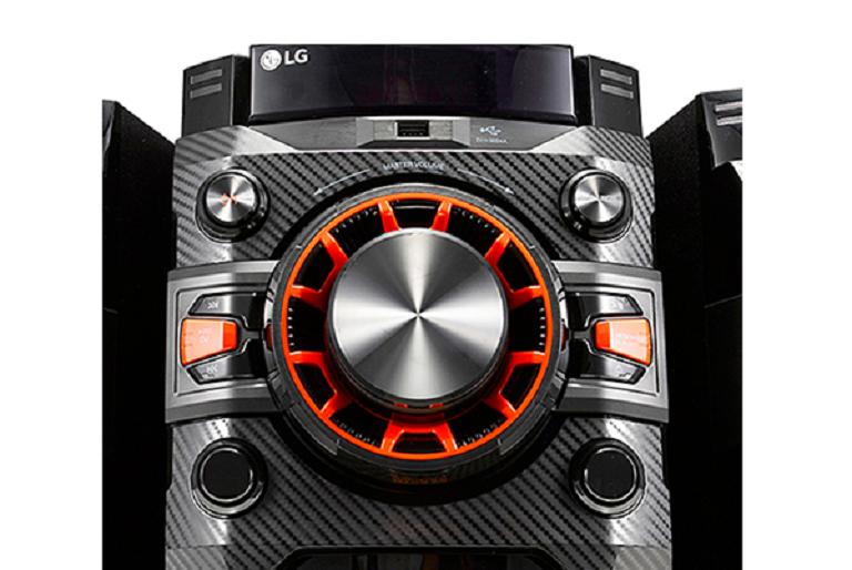 Close up of the LG Bluetooth HiFi system
