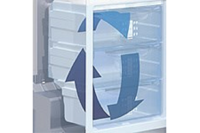 The Liebherr fridge's NoFrost technology cools produce quickly without frost