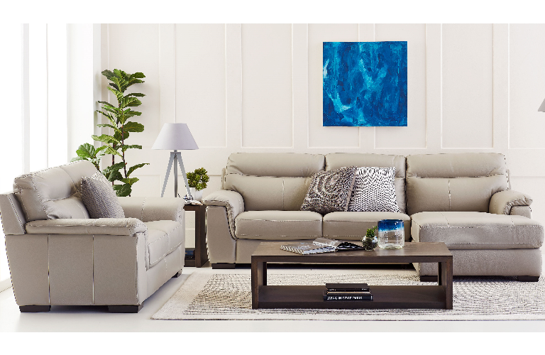 lilly leather lounge with chaise