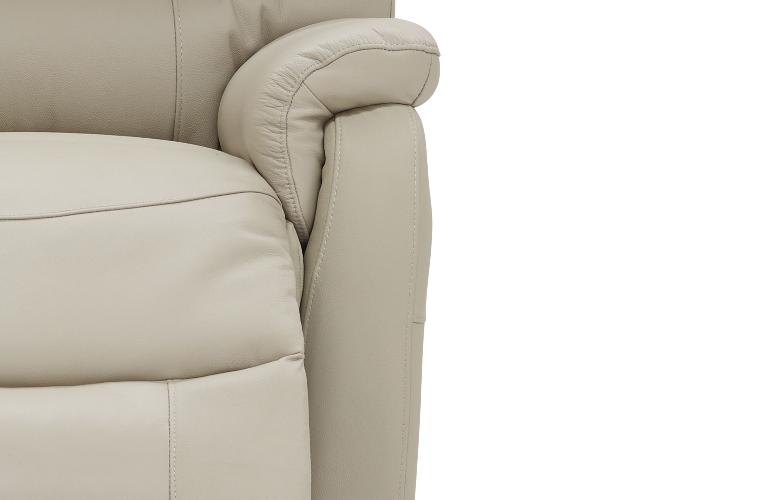 luna leather recliner