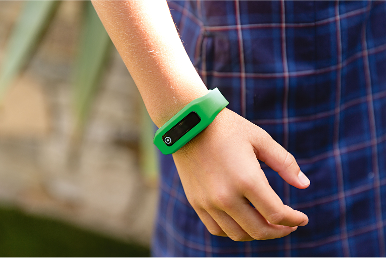 Child wearing the Milo Champions activity tracker