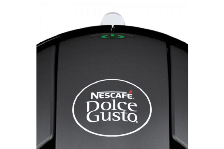 Close view of the Dolce Gusto logo and control panel