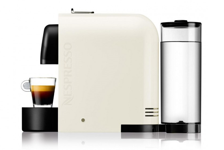 Side view of the Nespresso coffee machine