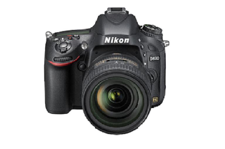 Rear view of the Nikon D610