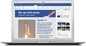 Office 365 on a Macbook 