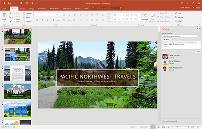 Office 2016 open with a 