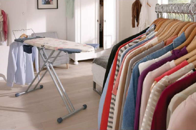 Clothes freshly pressed by the PerfectCare Steam Generator Iron