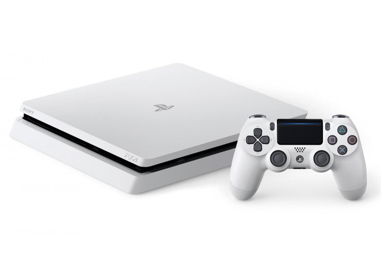 The PS4 console with controller