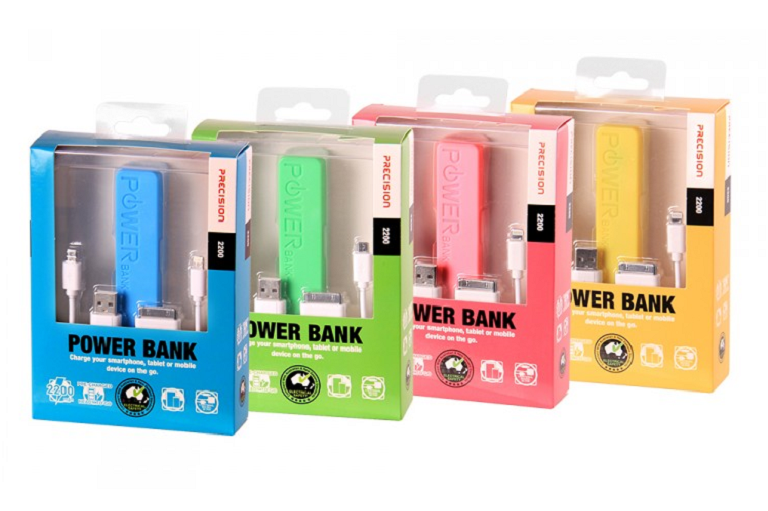 The 2200mAH powerbank is available in different colours
