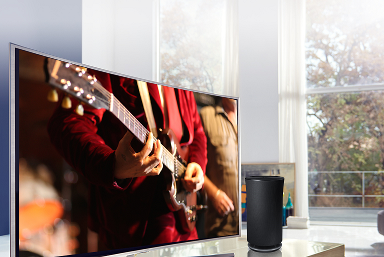 Connect the Samsung wireless speaker to your compatible TV