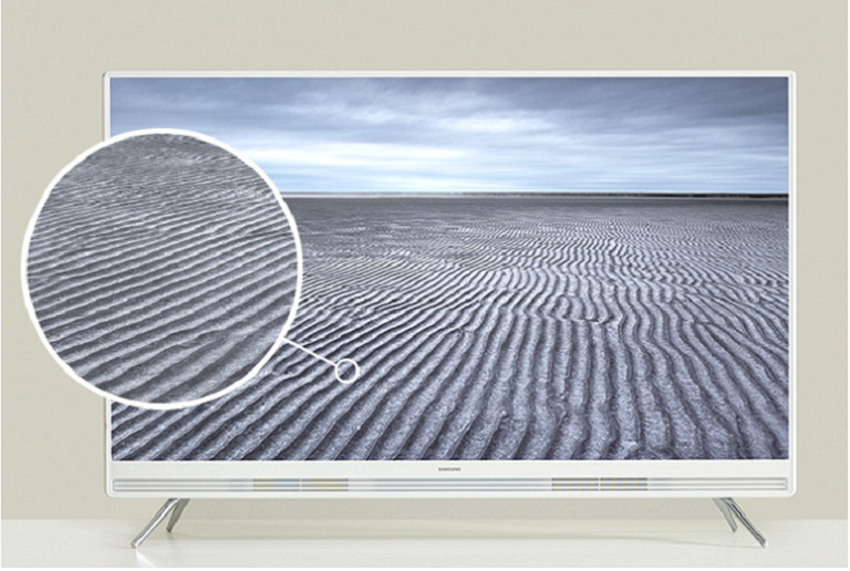 The Smasung Pure & White flat screen TV offers exceptional image quality