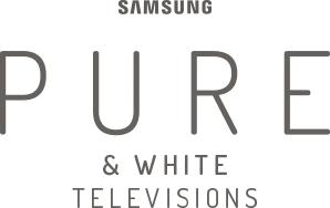The Samsung Pure & White logo