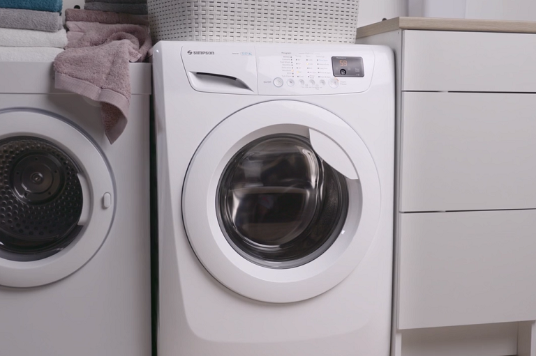 The 8kg washing machine in a laundry