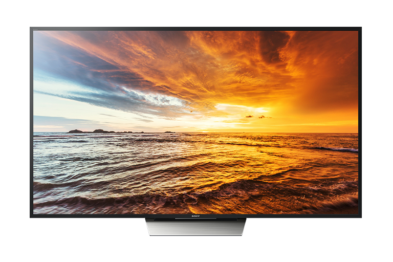 The SOny Bravia TV showing a vibrant sunset