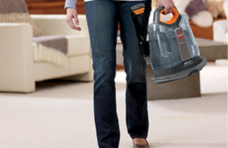 Woman carrying SpotClean