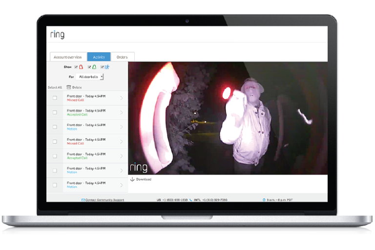 web interface demo