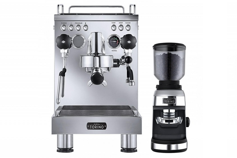 The Sunbeam coffee machine with grinder
