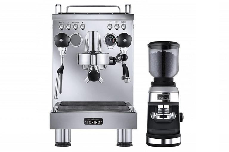 The Sunbeam coffee machine with grinder