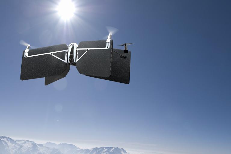 swing drone worships the sun