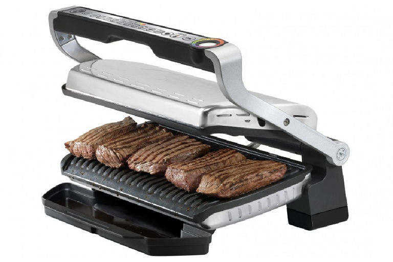 Cooking steaks on the Tefal OptiGrill