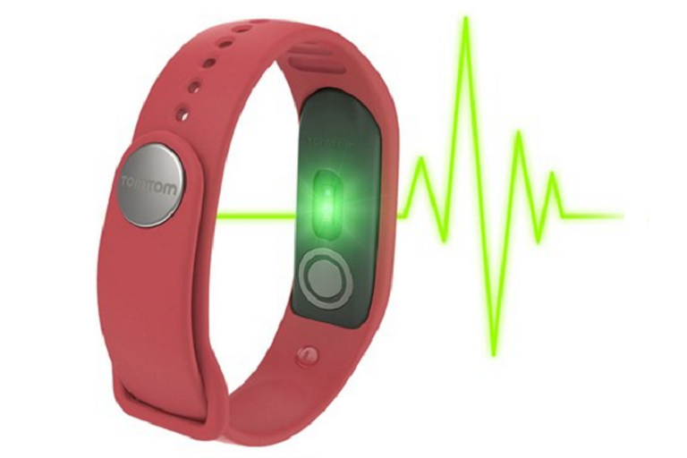 The TomTom tracker measures your heart rate