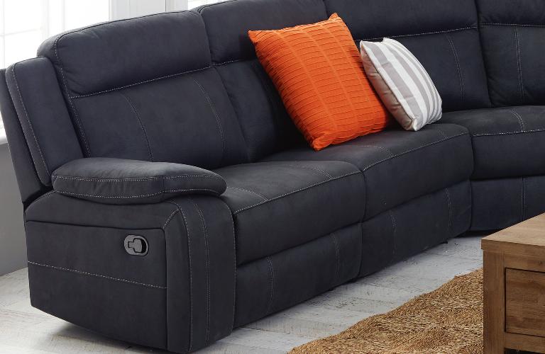 Corner Recliner Sofa Fabric Home Decor 88