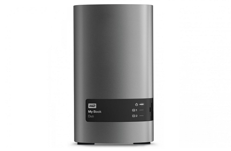 Front view of the WD My Book Duo