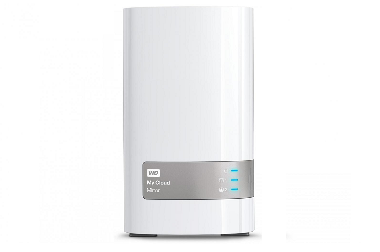 Front view of the My Cloud Mirror NAS device