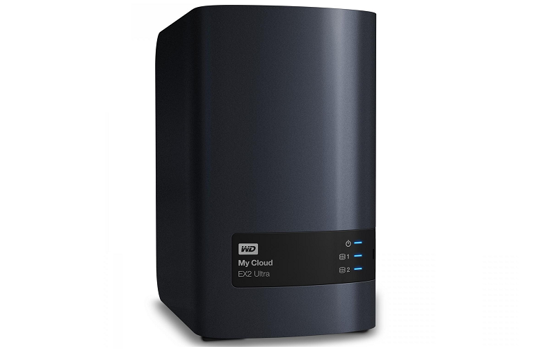 An angled shot of the Western Digital NAS device