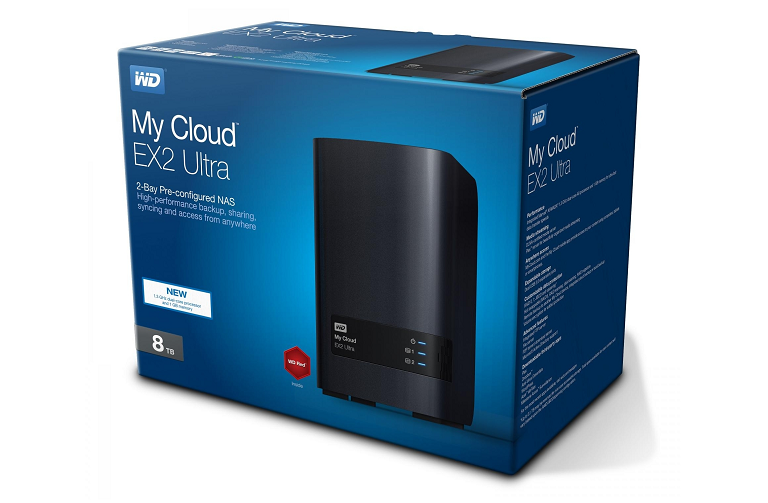 The WD My Cloud EX2 Ultra packaging
